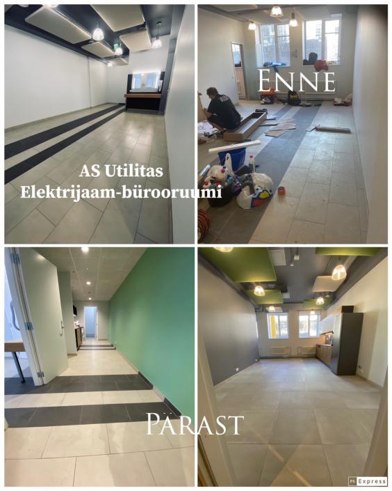350m2 büroo ehitusjärgne koristus (aprill 2021)