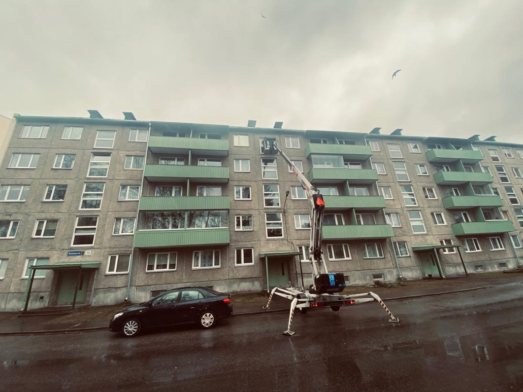 Mustamäe 5-korruselise maja pesu (mai 2021)