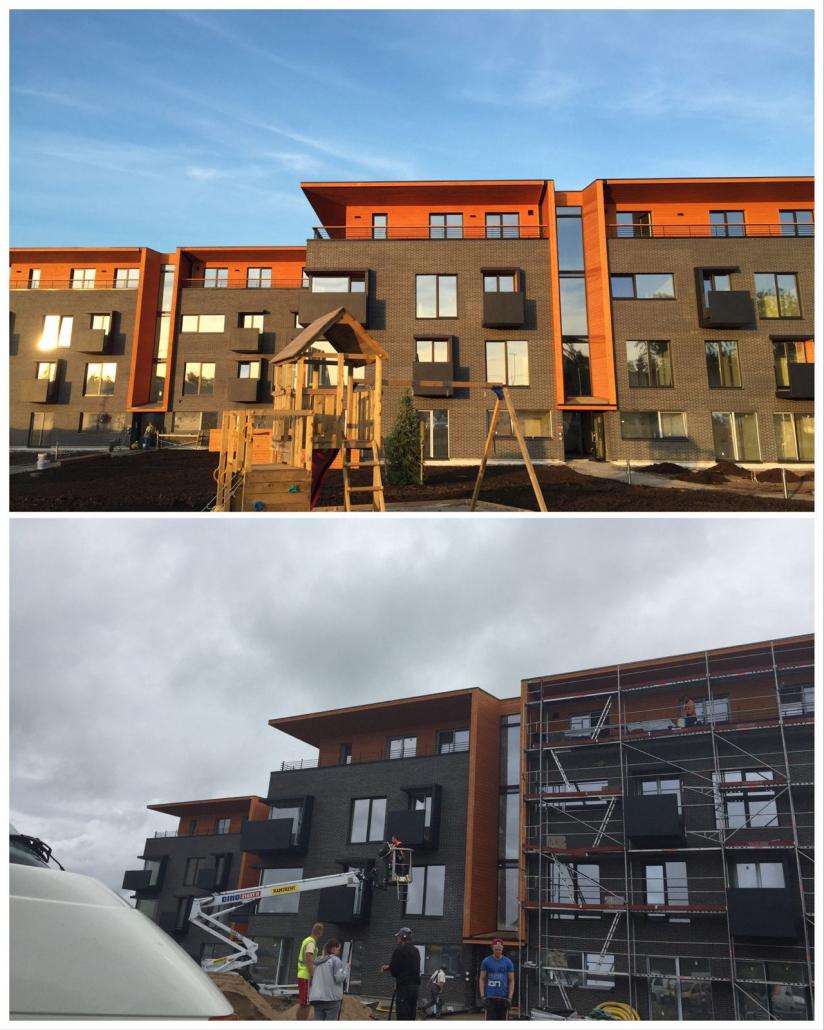 Saku kortermaja täispuhastus – aknad ja üldalad (Nordecon Betoon)