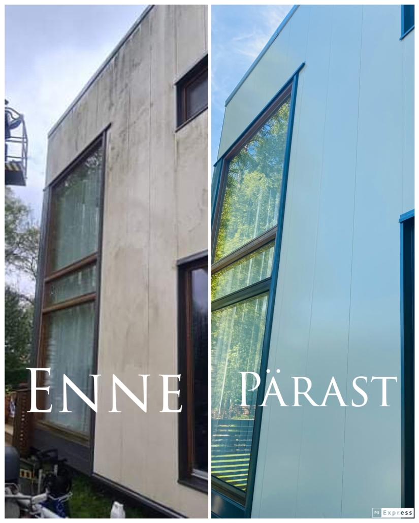 Fassaadipesu koos aknapesuga (mai 2021)