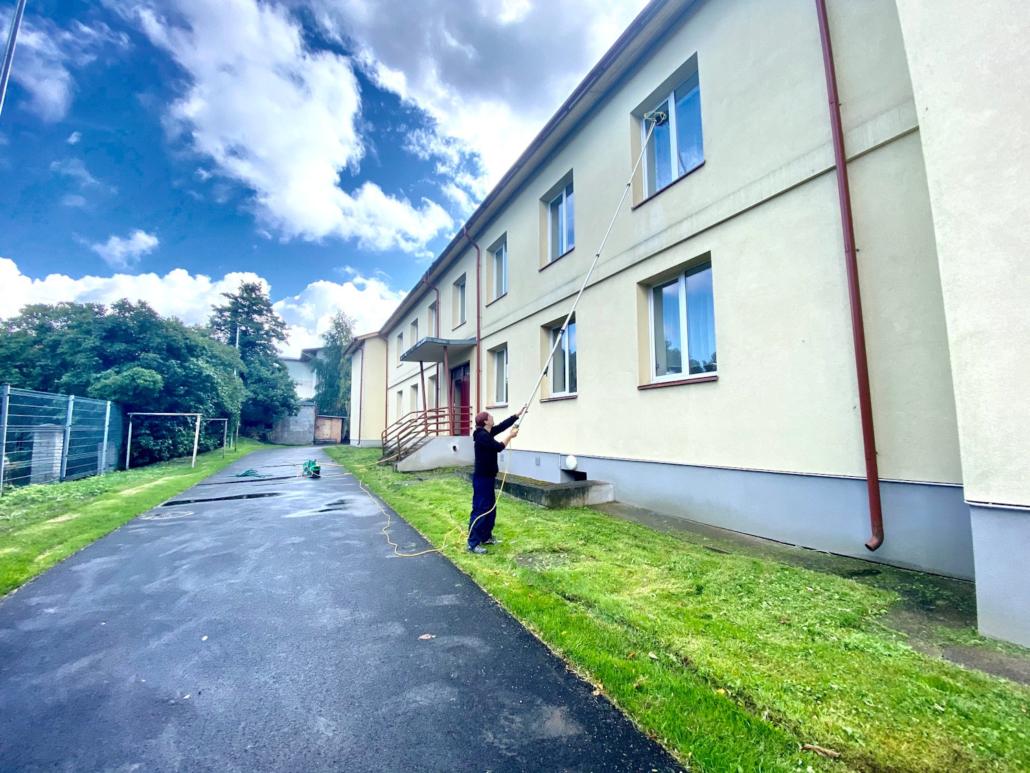 Lõime Lasteaia aknapesu ioniseeritud aknapesu süsteemiga (august 2021)